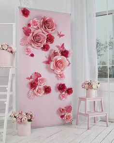 """493 Likes, 10 Comments - MIO GALLERY• Paper art studio• (@mio_gallery) on Instagram: """"Giant paper flowers!! A wonderful idea for your alternative wedding backdrop, isn't it?"""""""