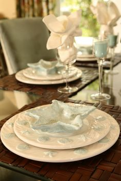 Coastal Living Resort Tablescape Love The Dinnerware