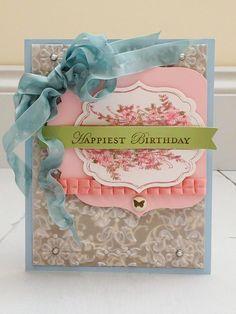 Birthday Card - love the layers