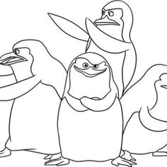 a happy penguin enjoy christmas coloring page a happy penguin