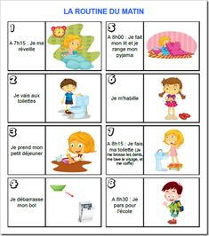 Routine enfant - matin Additionally, I am your well known standard knowledge educator exactly who Teaching French, Autism Education, French Classroom, French Lessons, Learn French, Kids And Parenting, Teaching Kids, Montessori, Special Education