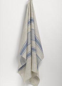 neutral stripe towels - Google Search