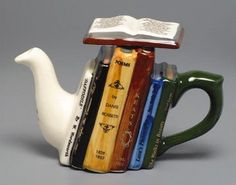 ~ books teapot ~