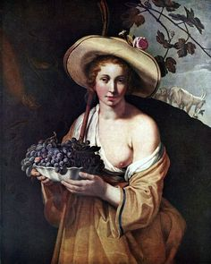 Abraham Bloemaert (1564-1651) Shepherdess with Grapes