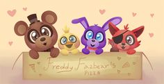 The cutest stuff on the box - FNAF by Kplatoony
