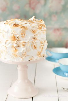 Tarta de naranja, crema y merengue sin gluten