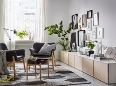 VEDBO Armchair, Gunnared dark gray, Height including back cushions: 29 - IKEA Ikea Living Room, Living Room Grey, Small Living Rooms, Living Room Designs, Modern Living, Dining Room, Dining Table, Light Green Rooms, Living Room Furniture Inspiration