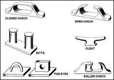 Deck fittings for sailing vessels