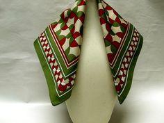 Vintage Polyester Italian Made Woman's Scarf / by CatzShinySmiles