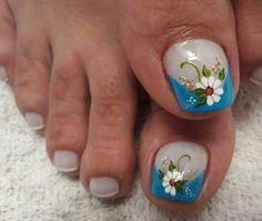 Toe Nail Art, Toe Nails, Erika, Manga, Beauty, Blue Nails, Nail Design, Designed Nails, Pretty Nails
