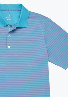bobby jones stripe polo- His shirts are the best looking shirts