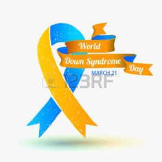 trisomique: Vector illustration. Journée mondiale du syndrome de Down. 21 mars