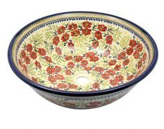Another extraordinary floral sink by Polish pottery