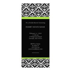 This DealsBlack and Lime Damask Bridal Shower Invitationsso please read the important details before your purchasing anyway here is the best buy