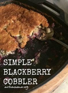 Simple Blackberry Cobbler @ AVirtuousWoman.org