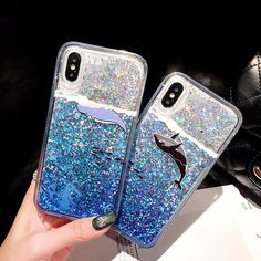 2 in 1 Waterfall Phone Case (Pink Star) + Screen Protector Compatible with iPhone 7 Plus/iPhone 8 Plus Cool Phone Cases, Iphone Phone Cases, Used Iphone, Iphone 4, Iphone Camera, Phone Covers, Liquid Iphone 6 Cases, Glitter Iphone 6 Case, Iphone 8 Plus