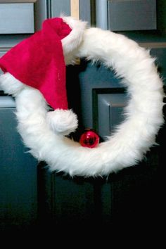 Santa Wreath Idea