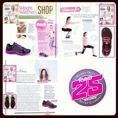 Throw Back Thursday. ryka in the press. (Oct 2012) Weight Watchers Australia Magazine: DESIRE Running Sneakers