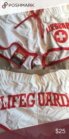 White Lifeguard Shorts White cotton short shorts Lifeguard Products Shorts