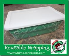 "Operation Christmas Child: ""Wrapping"" a Plastic Shoe Box with a Bandana or other fabric."