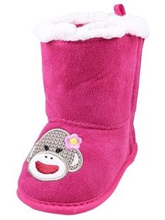 Sadie Infant Girls Sock Monkey Soft Sole Boots by Baby Starters  Pink  24 Mths * Read more reviews of the product by visiting the link on the image. (This is an affiliate link) #BabyGirlShoes