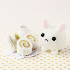 Japanese Wool Needle Felting Craft Kit - Bunny and Sandwiches. $15.00, via Etsy.