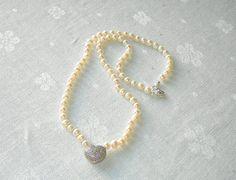 Necklace No 7-2015 Freshwater pearls Wedding by dewildjewellery