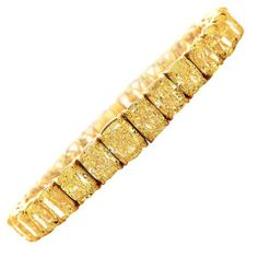 Important Yellow Diamond Tennis Bracelet thumbnail 1