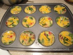 Healthy Breakfast Recipes: Turkey Bacon, Egg and Spinach Frittata Minis