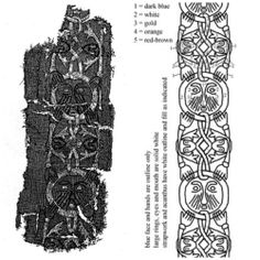 Embroidery from the tenth century Viking grave at Mammen Denmark