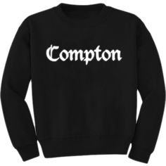ice cube inspired Compton sweatshirt available now R E T R O V I L L A G E ✈️ by retrovillageuk on Polyvore featuring polyvore, fashion and style