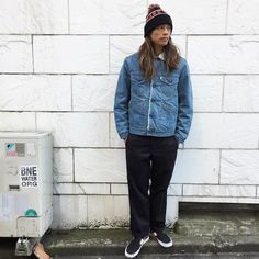 今日のJun. #standardcalifornia #スタンダードカリフォルニア #california #ebisu #boajacket #vintagewash #denim