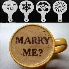 Cappuccino Barista schablonen Vorlage  cafe marry me wedding