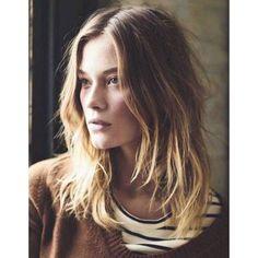 Coupe de cheveux ondules blonds hiver 2015