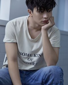 """Yook Sungjae is literally not doing something amazing in Singles Magazine photo shoot, he's just sitting like a normal guy, holding a glass of water and drinking. Korean Men, Korean Actors, K Pop, Sungjae Btob, Yongin, Normal Guys, Korean Artist, K Idols, Korean Singer"