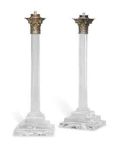 A PAIR OF LATE VICTORIAN CUT-GLASS TABLE LAMPS