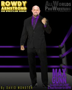 MAX GUNN - Ex-American #Heavyweight #Champ & current head recruiter for the www.AllWorldsProWrestling.com from the www.RowdyArmstrong.com series of #Gay #Erotic #ProWrestling Novels, & multi-choice text game coming soon:  ALL WORLDS PRO WRESTLING  #ProWrestler #Wrestling #GayWrestling #Bald #ShavedHead Wrestling Games, Wrestling News, Red Hair, Brown Hair, Black Hair, Scott Evans, Confused Feelings, Jersey Boys, Shaved Head