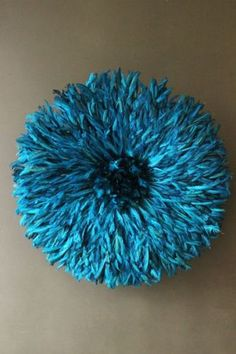 JuJu Hat Feather Wall Hanging - Peacock Blue