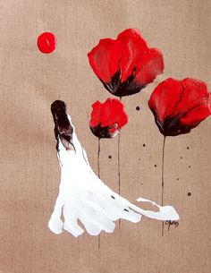 Lady Of The Poppies by Catherine Jeltes // #art