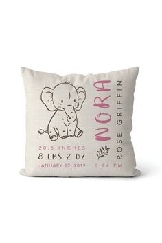 20 Personalized Baby Gifts - Customized Baby Boy and Girl Gifts gifts 20 Personalized Baby Gifts That Are Literally One of a Kind Elephant Birth, Elephant Nursery, Girl Nursery, Baby Design, Unique Baby Shower Gifts, Personalized Baby Gifts, Custom Baby Gifts, Custom Baby Onesies, Personalized Pillows