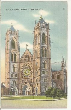 1945 Roman Catholic Cathedral Basilica of the Sacred Heart NEWARK NJ