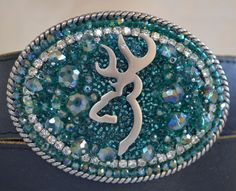 Browning buck ladies crystal belt buckle, cowgirl belt buckle, western belt buckle, deer belt buckle on Etsy, $55.00
