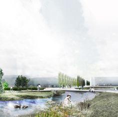 HOBRO – 'A City Finds its Lake' Winning Proposal / Holscher Arkitekter