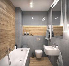 szafka we wnece za wanna tez OK Bathroom Tile Designs, Wood Bathroom, Bathroom Design Small, Bathroom Layout, Bathroom Interior Design, Bathroom Inspiration, Interior Architecture, New Homes, House Design