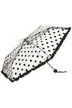 Top Shop Polka Dot Umbrella