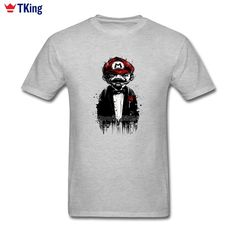 We love it and we know you also love it as well Super Mario Father T-shirts Pocket Rose Plus Size New Personality High Quality Short Sleeve Bespoke The Godfather Men's T-shirts just only $12.10 with free shipping worldwide  #tshirtsformen Plese click on picture to see our special price for you