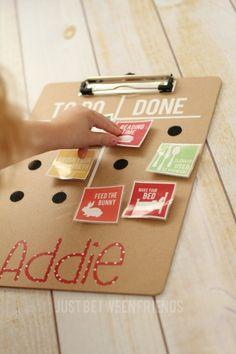 DIY Chore Chart {Hello Summer} I Heart Nap Time | I Heart Nap Time - Easy recipes, DIY crafts, Homemaking