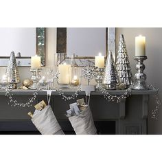 Shop for Christmas stockings, stocking hooks, tree skirts and tree collars at Crate and Barrel. Shop online.