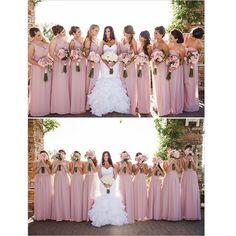 Simple A-line One-shoulder Floor-Length Pink Bridesmaid .- Einfaches A-Linie Eine-Schulter Bodenlanges Rosa Brautjungfernkleid mit Rüschen Simple A-line One-Shoulder Floor-Length Pink Bridesmaid Dress with Ruffle - Bridesmaids And Groomsmen, Wedding Bridesmaid Dresses, Bridesmaid Color, Bridesmaid Outfit, Wedding Gowns, Bridesmaid Bouquet, Blush Colored Bridesmaid Dresses, Light Pink Bridesmaids, Blush Pink Bridesmaids