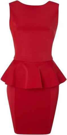 Peplum Colour Block Dress
